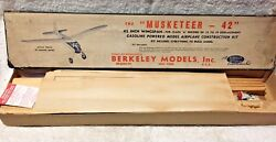 The Musketeer 1946 Berkeley 42quot; Balsa Plane for Gas Powered Engines $164.90