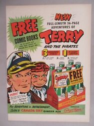 Terry amp; the Pirates for Canada Dry Ginger Ale PRINT AD 1953 comic book offer $9.99