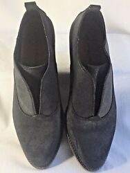 Lucky Brand 10  40 Fimberly black nubuck slip on ankle boot. Worn 1 X