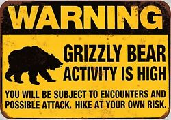 wall to wall decorating grizzly bear activity is high warning sign $15.95