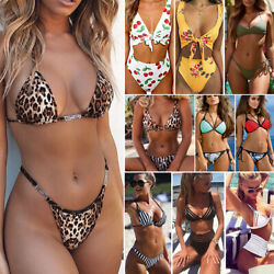 Womens Bikini Set Bandage Push-Up Padded Swimwear Swimsuit Bathing Brazilian V19 $8.99