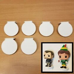6 Pack Funko Pop Vinyl Figure Mini Wall Display Shelfs - Free Shipping – White