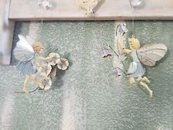 Vintage Garden Fairy Set of 2 Wall Metal Art Hanging with Rusted Edges Fairies $26.99