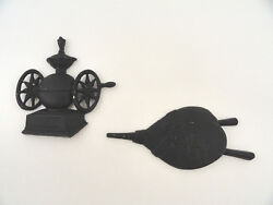 Sexton Cast Iron Kitchen Decor Wall Hangings USA Coffee Grinder Bellows $12.34