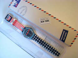 SHE ROCKS! New Gents STATUE OF LIBERTY Greetings From NY Destination Swatch-NIB!
