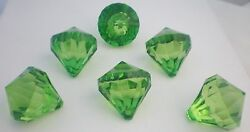 GLOWING FABULOUS GREEN CHANDELIER PRISMS DROPS BEADS PENDANT $8.99
