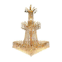 8033 Victoria Collection Chandelier D:32in H:42in Lt:18 Gold Finish