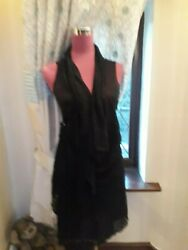 Stunning  All Saints Nadia Dress Black Size 12 Excellent Condition $50.03