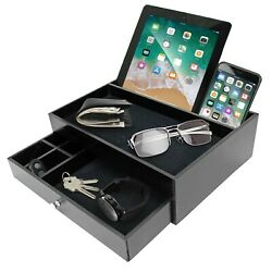 Mens Valet Edc Tray for Men - Night Stand Organizer Men as Catchall Tray ... NEW