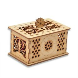 Wooden Laser Carved Cutting Dry Fruit Container Jewelry Box Christmas Gift Item