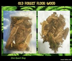 Old Forest Floor Wood... A Natural Food For Isopods and Millipedes 1 Quart Bag $14.95