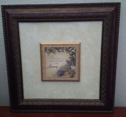 Framed Picture Home Inspirational $29.00