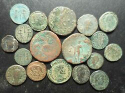 Lot of 18 VF to VF+ Ancient Roman Coins: She Wolf Augustus AS Diocletian!