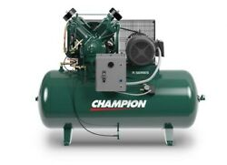 CHAMPION COMPRESSOR (HR10-12) 120 GAL HORIZONTAL 10 HP THREE PHASE (NEW) $5,500.00