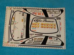 Vintage HPI RACING LOGO DECAL ALFA ROMEO RC car stickers kit decals RS4 10709 D