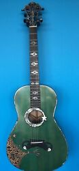 Blueberry Special Order Parlour Guitar Caravan Motif -  90 Day Delivery