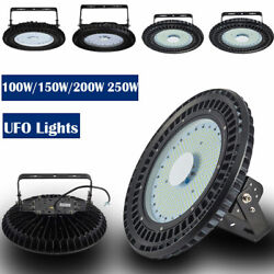 100-200W UFO LED High Bay Light Commercial Warehouse Industrial Lamp Cold White $563.41