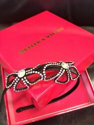 Butler & Wilson Double Flower Crystal Headband Pink New Boxed