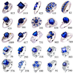 Blue Sapphire & Tananite Gemstone Jewelry Silver 925 Ring Size 678 9 10 11 12 13
