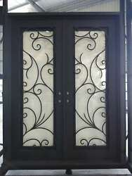 Priced to Sell & Ready to Ship! Custom Wrought Iron Door 77.5