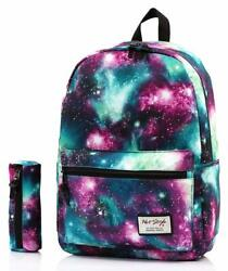 TRENDYMAX Galaxy Backpack Cute for School 16quot;x12quot;x6quot; Holds 15.4 inch Laptop $20.82