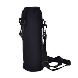 Outdoor 1000ML Water Bottle Carrier Insulated Cover Bag Holder Strap Pouch
