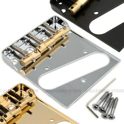 Wilkinson Telecaster Bridge w Cut-Down Sides & Compensated Brass Saddles Tele $35.95