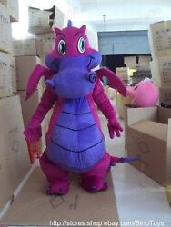 Big Dragon Mascot Costume Suit Halloween Cosplay Animal Party Adults Fancy Dress