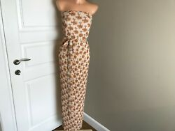Women Long Dress Printed Flowers From Wallis Size UK 12 US 8 EU 40