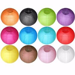 50 Packs 10quot; Mixed Color Rounded Paper Lanterns Wedding Graduation Decorations $17.98