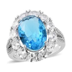 Statement Ring Oval White Cubic Zirconia CZ Gift Jewelry for Women Ct 2.8