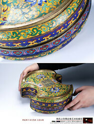 Qing period imperial cloisonne enamel box hallmarked antique Chinese treasure