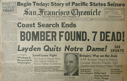 OLYMPIA BOMBER FOUND 7 DEAD UK WAR AXIS VICHY HITLER NOTRE DAME February 4 1941 $47.50