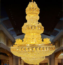 Luxury Duplex Hotel Large K9 crystal Chandelier Villa Decorative lighting #1145