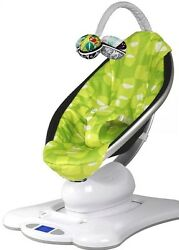 4moms MamaRoo Plush Baby Bouncer Infant Seat Chair GREEN USED $190.00