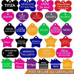Pet ID Tags Pet Tags Dog Tags DOUBLE SIDED ENGRAVING PREMIUM ALUMINUM $3.95