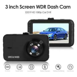 SD019 Full HD 1080p Car DVR 3 inch IPS Screen WDR 125° Dash Camera Recorder