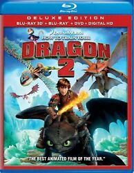 How to Train Your Dragon 2 3D Blu ray Jay Baruchel NEW $13.99