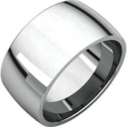 Platinum 10MM Light Comfort Fit Wedding Band Ring Size 4 to 15