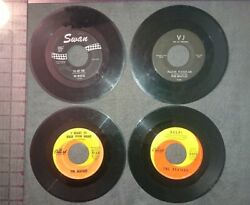 X4 LOT of Beatles 45's. Help I want to hold your hand please me she loves you