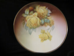 Bavaria Thu E Hand Painted Large Serving Plate Signed front and back
