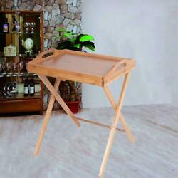 Portable Folding TV Tray Table Stand Dinner Coffee Kitchen Wood Furniture Picnic $27.69