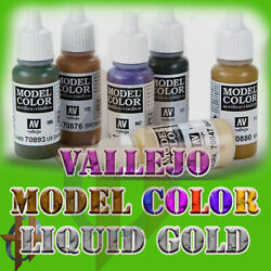 Vallejo Model Color Acrylic Paint 17 ML 218 Different Choices 35 ML Liquid Gold