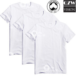 3 6 Pack Mens 100% Cotton Tagless Crew Round T Shirt Undershirt Tee White New $12.95