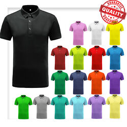 Men#x27;s Polo Shirt Dri Fit Golf Sports Cotton T Shirt Jersey Casual Short Sleeve $9.99