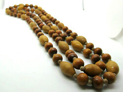 Vtg wood bead necklace 46