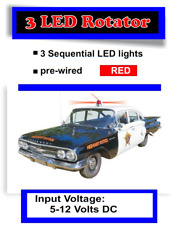 Red LED Rotating Circuit for Old Police Cars Sci Fi Models Drones and More $15.99