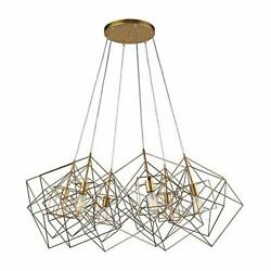Dimond 1141-032 Box Pendant 6-Light 360 Total Watts Gold Leaf