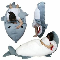 Giant Huge Shark Stuffed Plush Japan Pillow Sleeping Bag Gift Anime Hugging Body