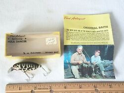 VINTAGE FRED ARBOGAST'S SPINNING HULA DANCER 650 S FISHING LURE W ORIGINAL BOX